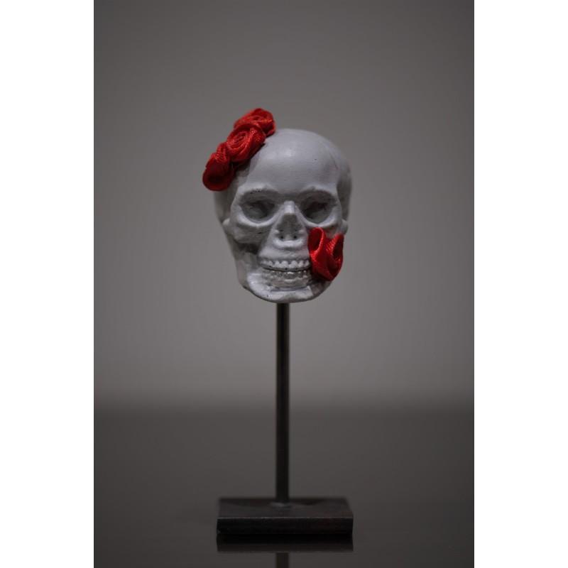 TBO - Crâne avec fleurs rouges