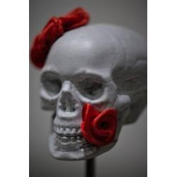 TBO - Crâne gris avec fleurs rouges