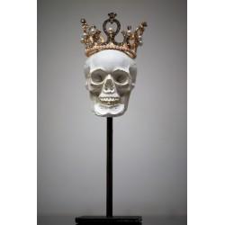 Crâne en Béton Couronné