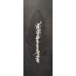 ToBetOn- Tableau en béton - Plume anthracite